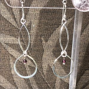 Sterling Silver Earrings with amethyst
